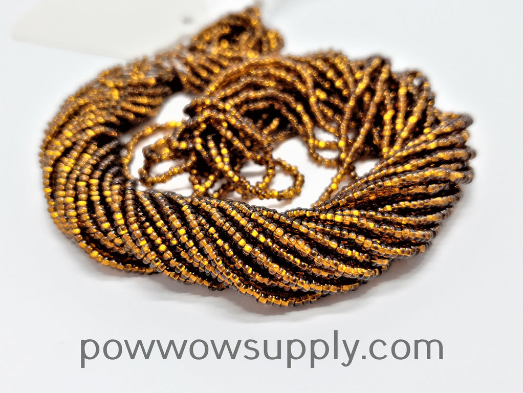 10/0 Seed Beads Silver Lined Smoke Topaz