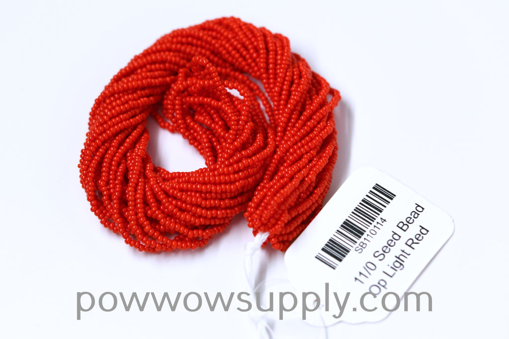 12/0 Seed Beads Opaque Light Red