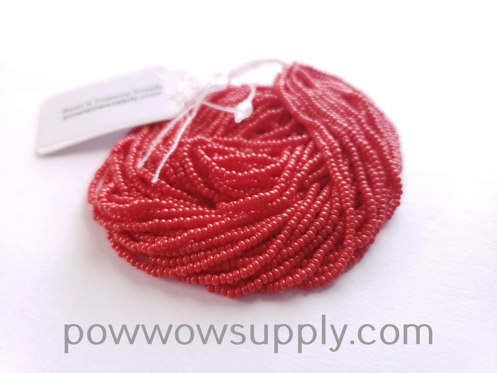14/0 Seed Beads Opaque Light Red