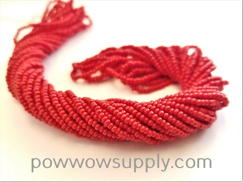 12/0 Seed Beads Opaque Red