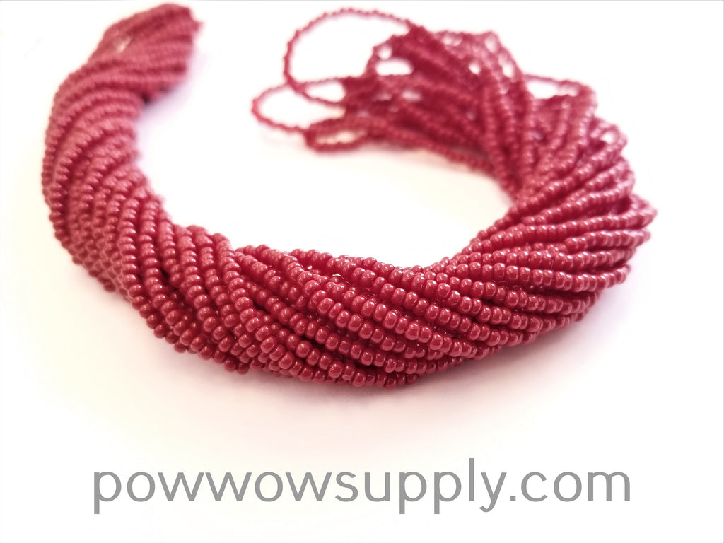12/0 Seed Beads Opaque Burnt Red