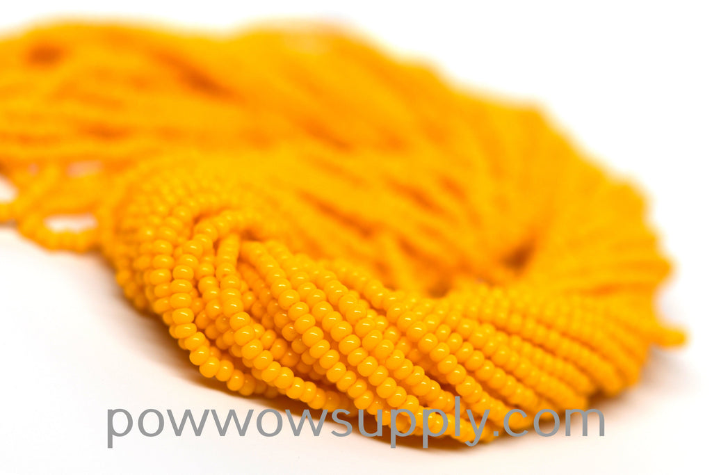 10/0 Seed Beads Opaque Light Orange