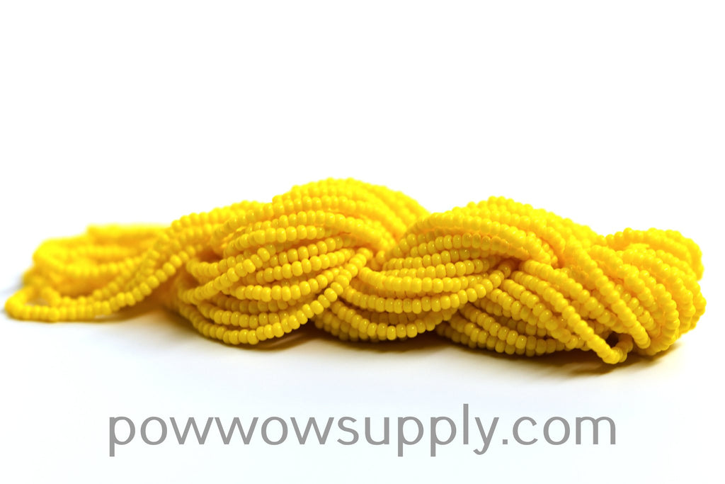 12/0 Seed Beads Opaque Golden Yellow