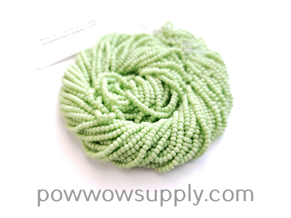 12/0 Seed Beads Opaque Lime