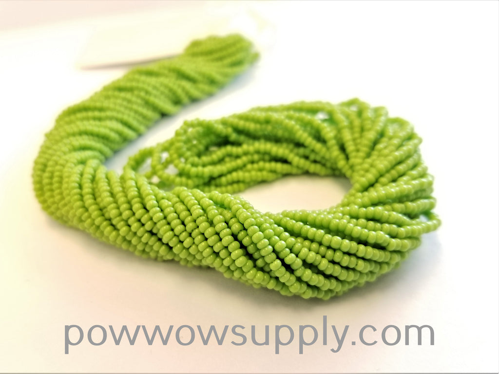 13/0 Seed Beads Opaque Avocado