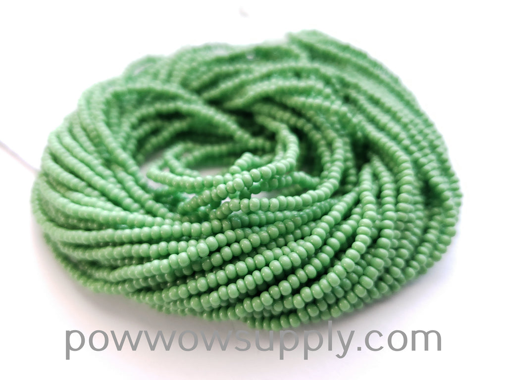 12/0 Seed Beads Opaque Light Green