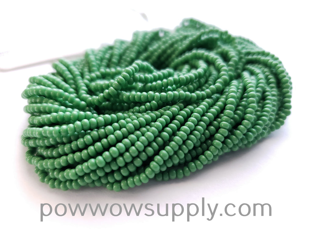 12/0 Seed Beads Opaque Green