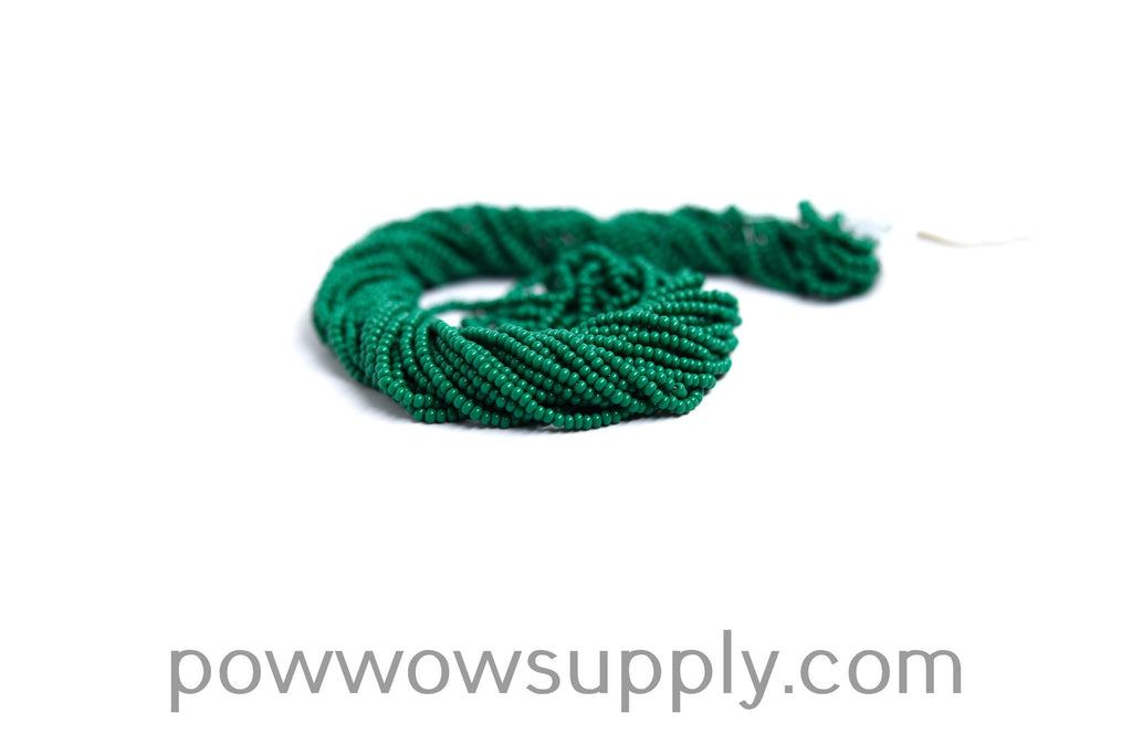13/0 Seed Beads Opaque Medium Green