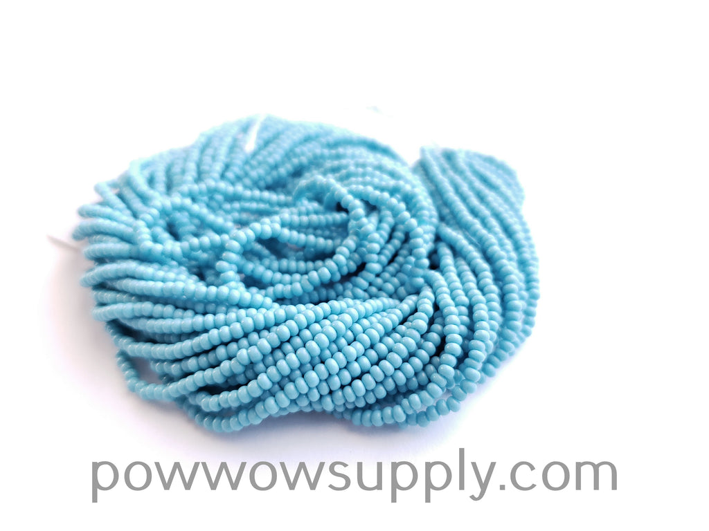12/0 Seed Beads Opaque Turquoise Blue