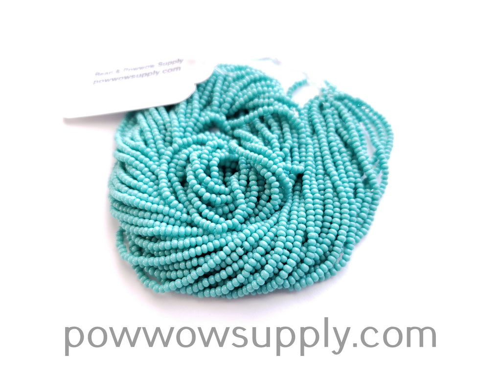 10/0 Seed Beads Opaque Green Turquoise