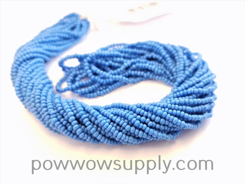 12/0 Seed Beads Opaque Deep Turquoise Blue
