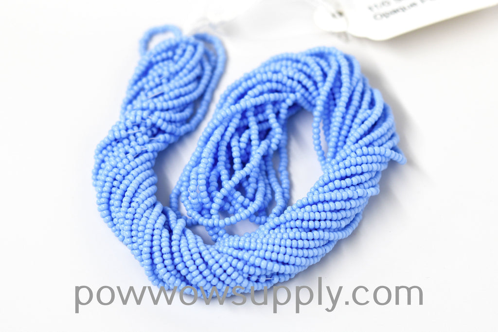12/0 Seed Beads Opaque Periwinkle