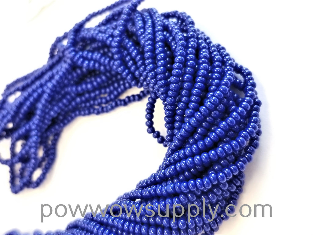 12/0 Seed Beads Opaque Medium Blue