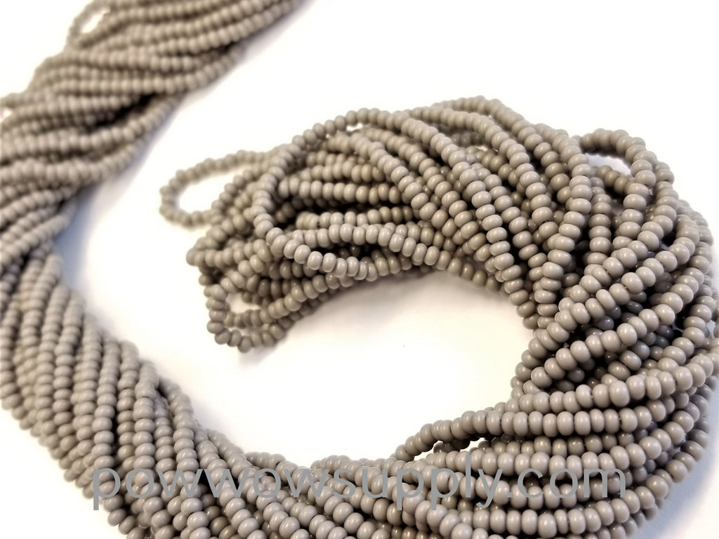 12/0 Seed Beads Opaque Grey