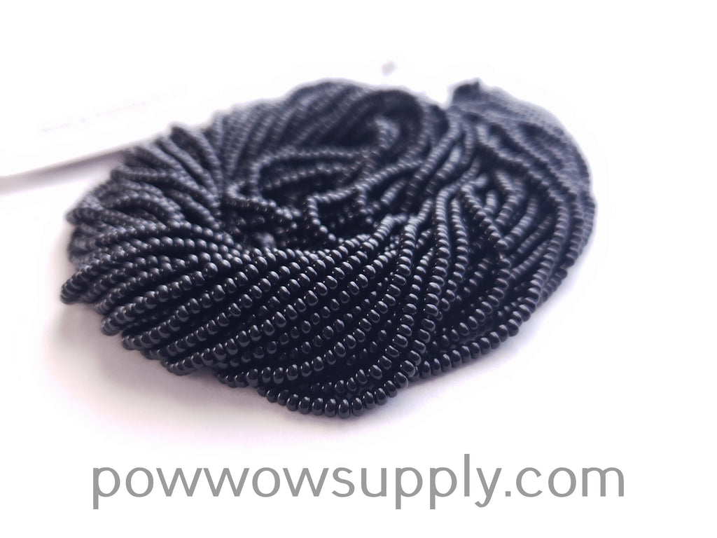13/0 Seed Beads Opaque Black