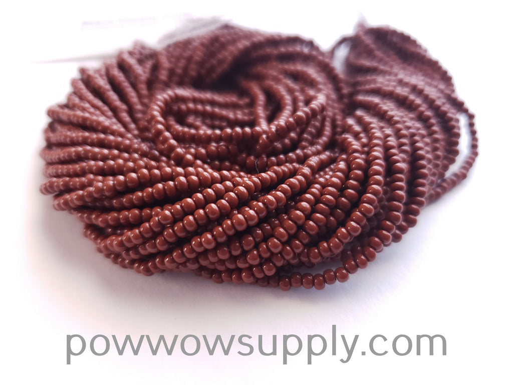 12/0 Seed Beads Opaque Light Brown
