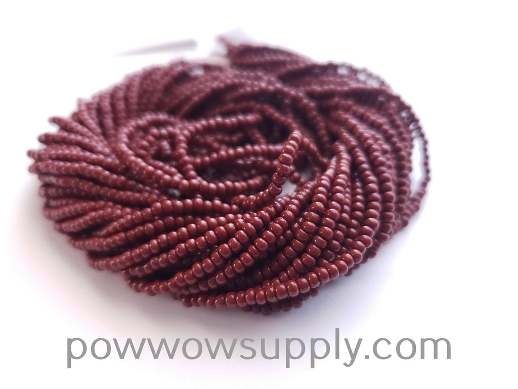 12/0 Seed Beads Opaque Medium Brown (Rust)