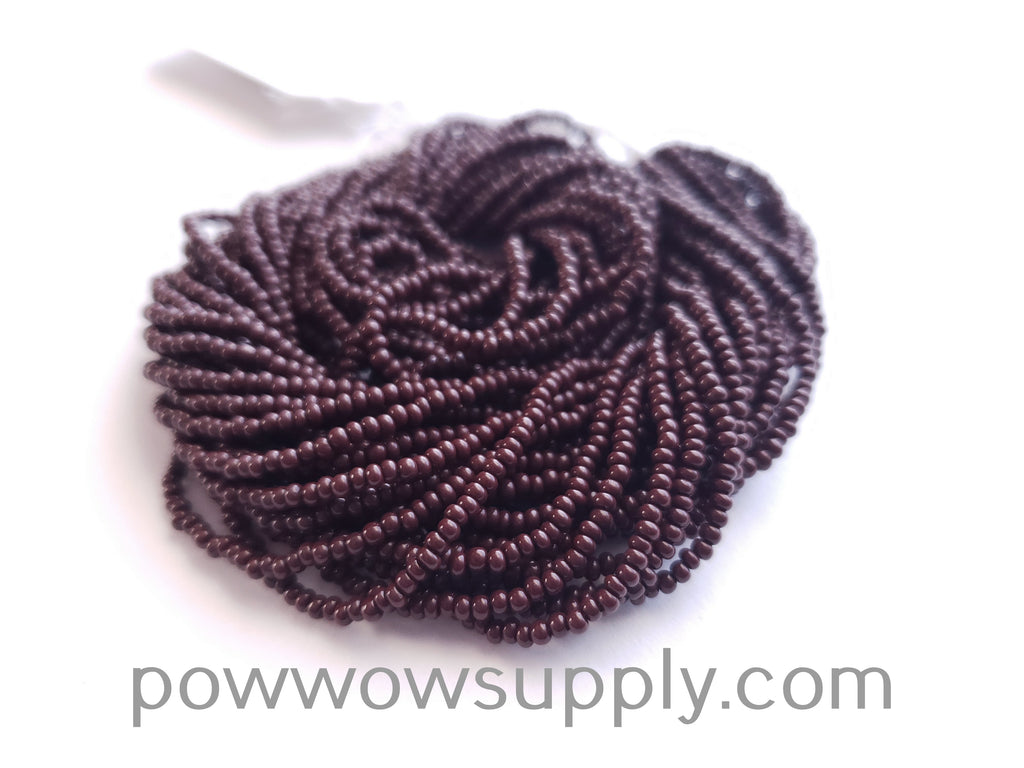 13/0 Seed Beads Opaque Dark Brown