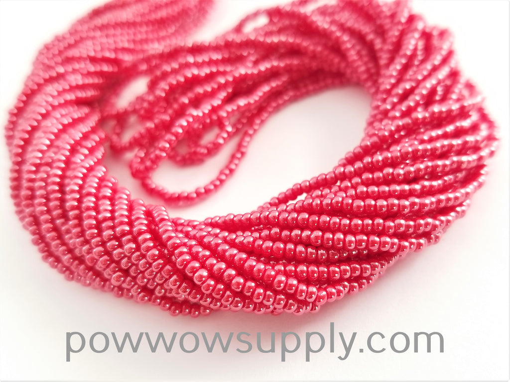 11/0 Seed Bead Opaque Luster Red