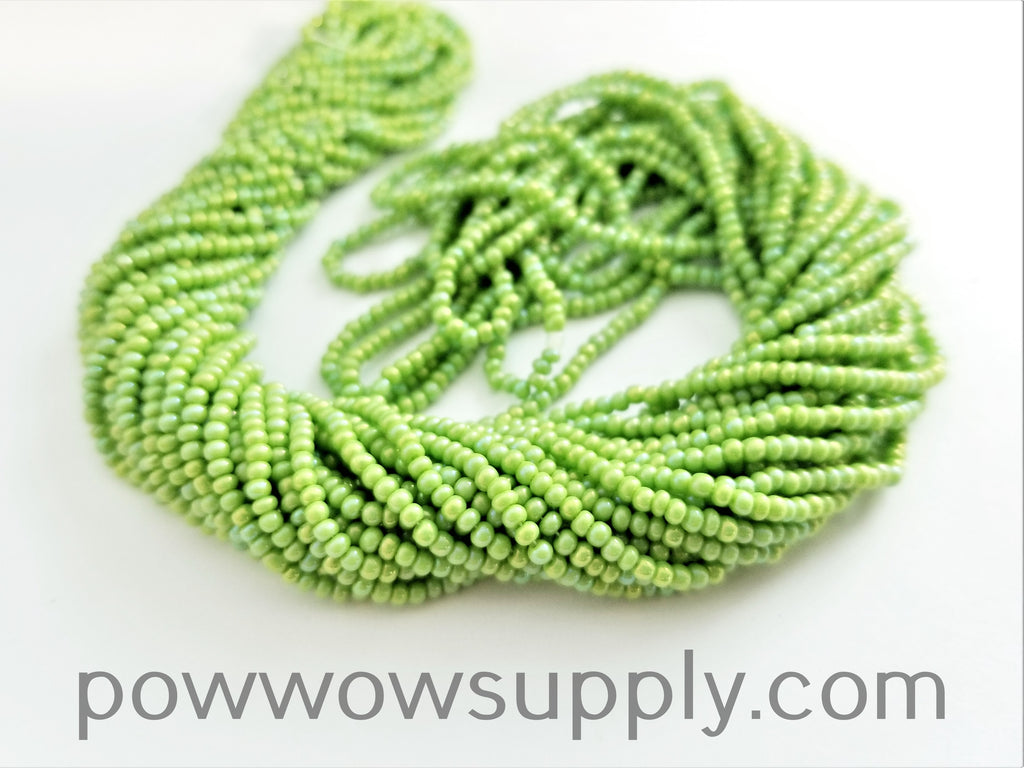 11/0 Seed Bead Opaque AB Avocado
