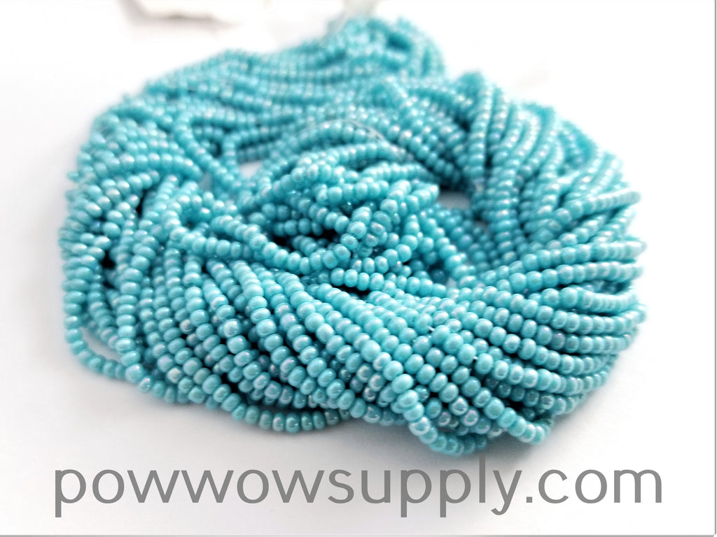11/0 Seed Bead Opaque AB Light Turquoise
