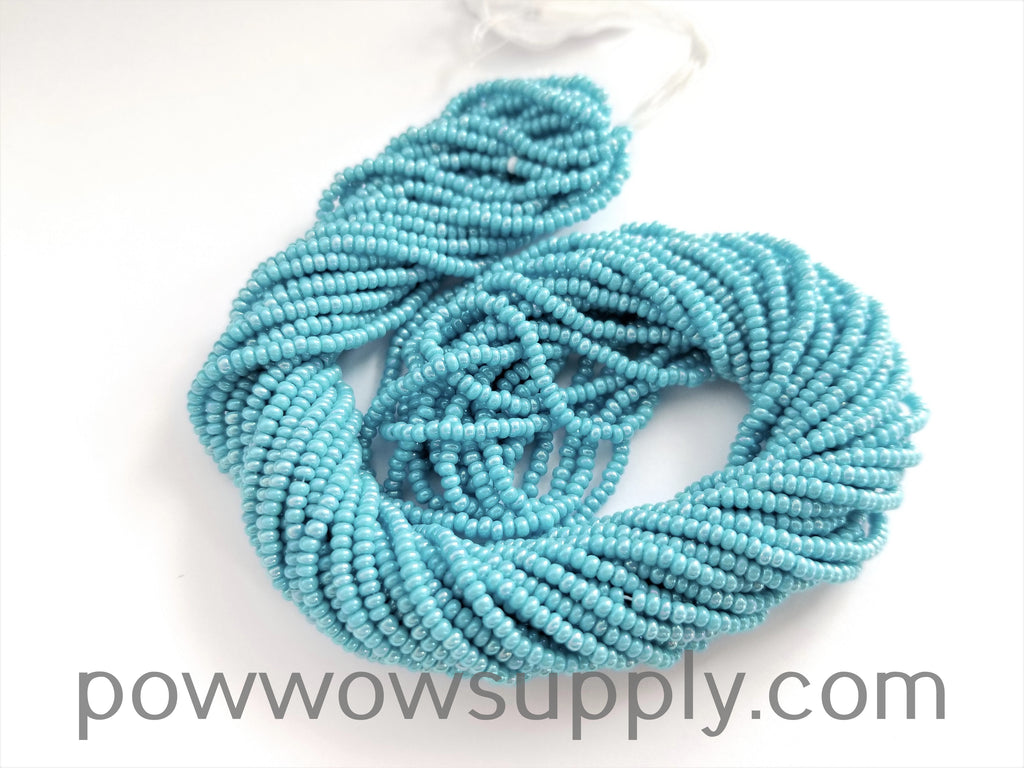 11/0 Seed Beads Opaque AB Blue Turquoise
