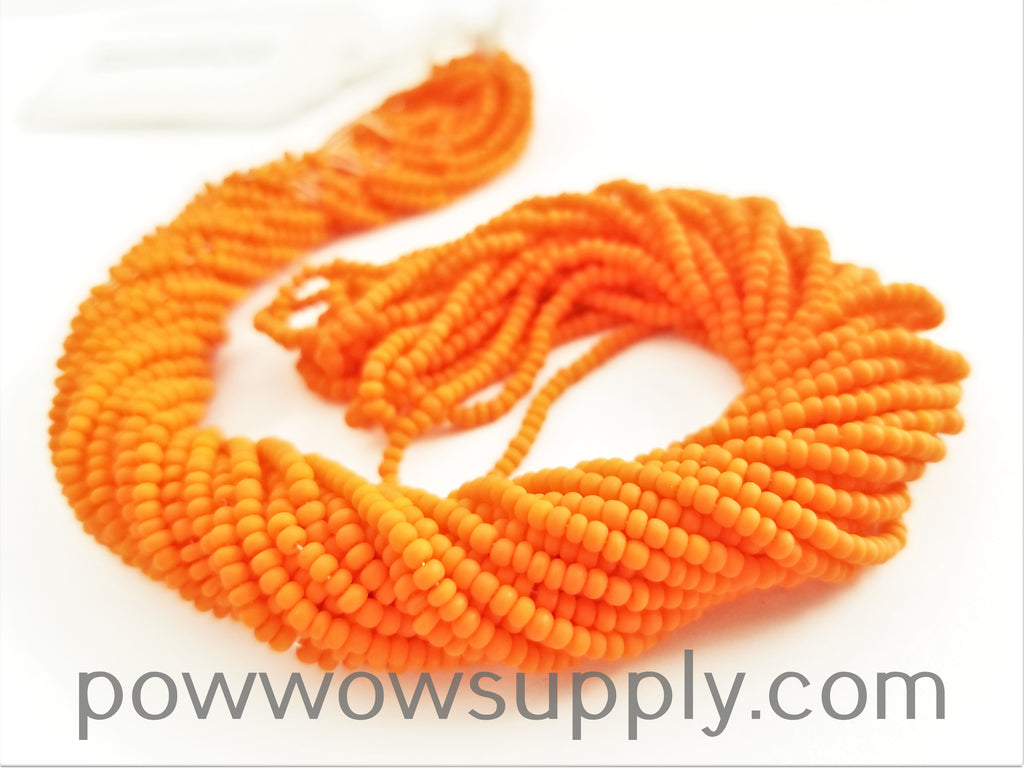11/0 Seed Bead Opaque Matte Orange