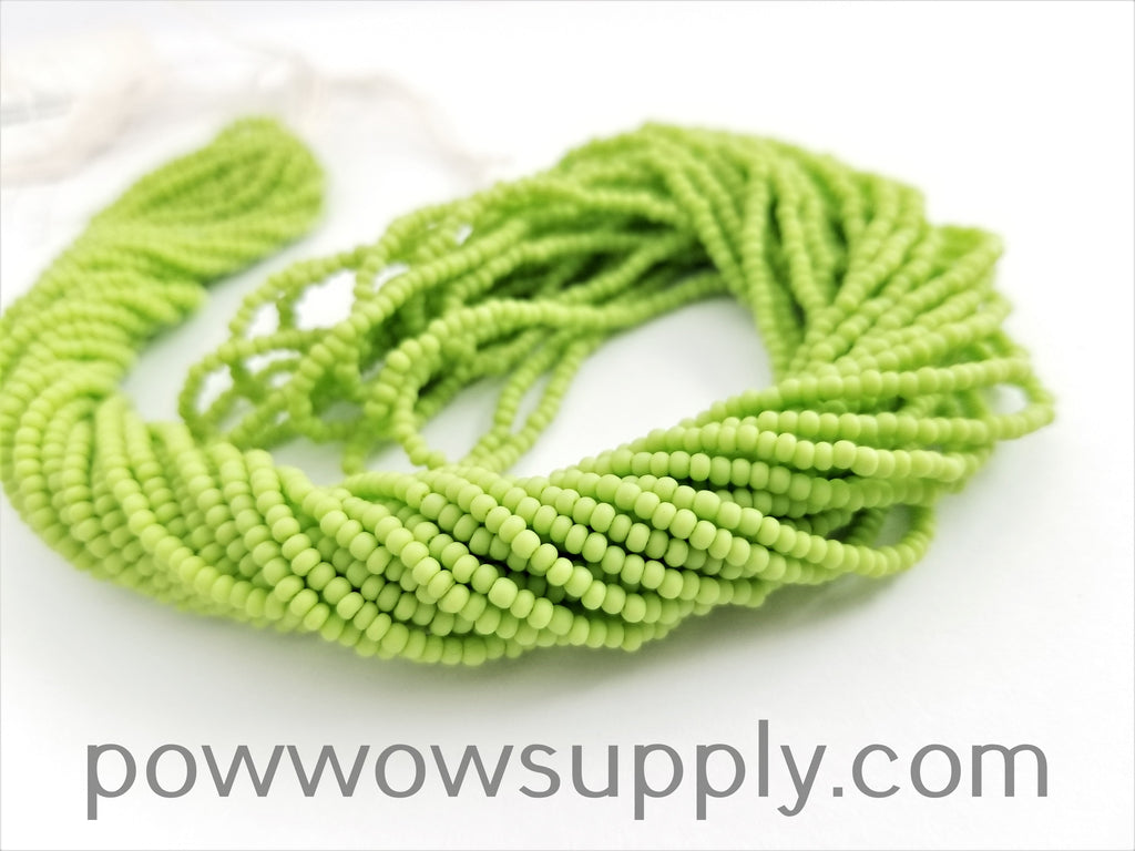 11/0 Seed Bead Opaque Matte Avocado