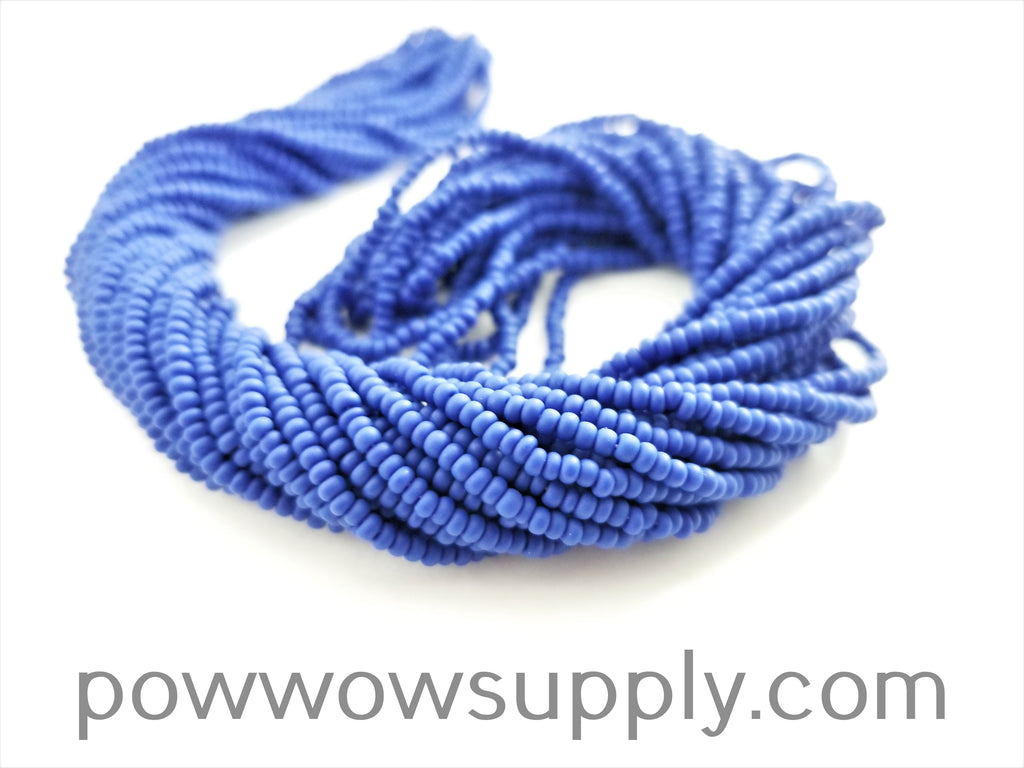 11/0 Seed Bead Opaque Matte Medium Blue