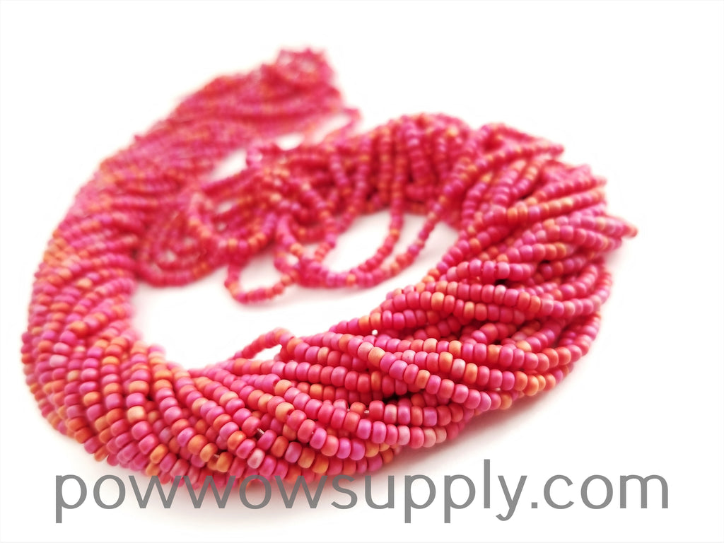 11/0 Seed Bead Opaque AB Matte Red