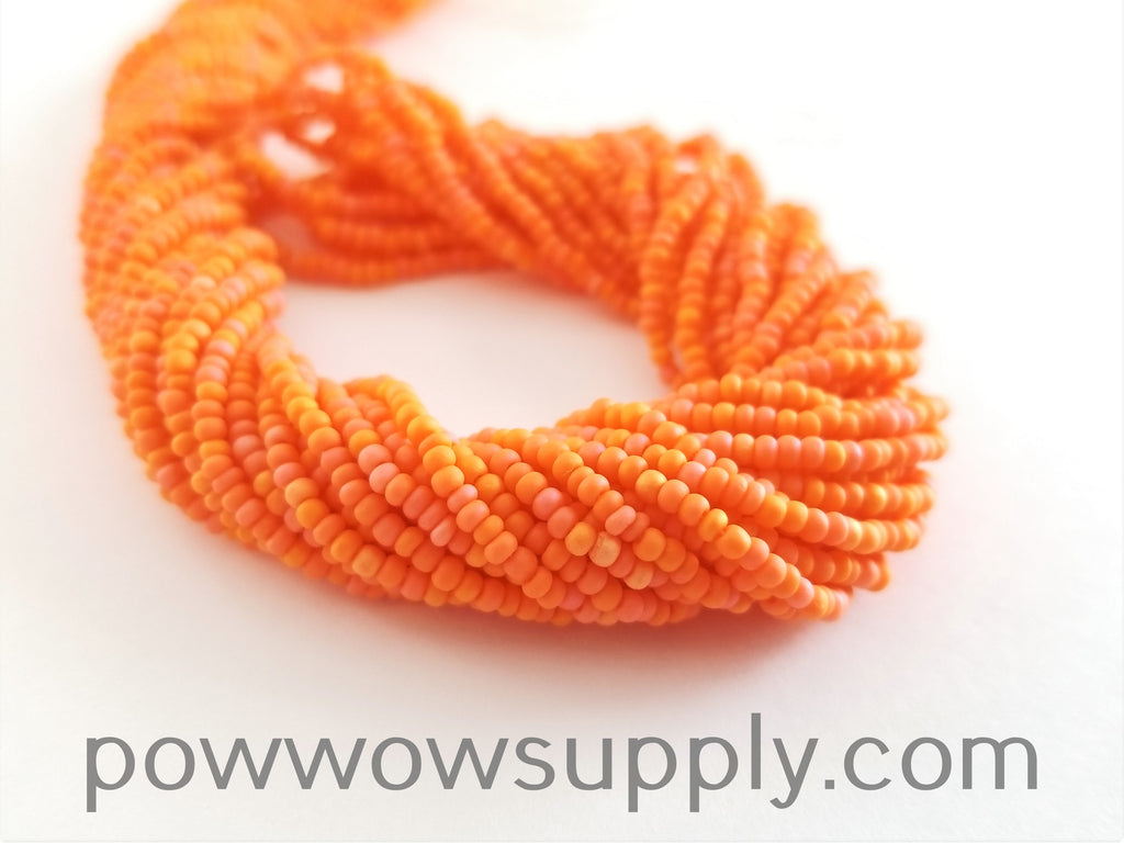 11/0 Seed Bead Opaque AB Matte Orange