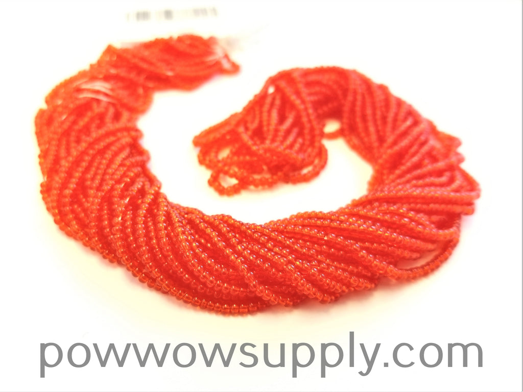 12/0 Seed Beads Transparent Light Red