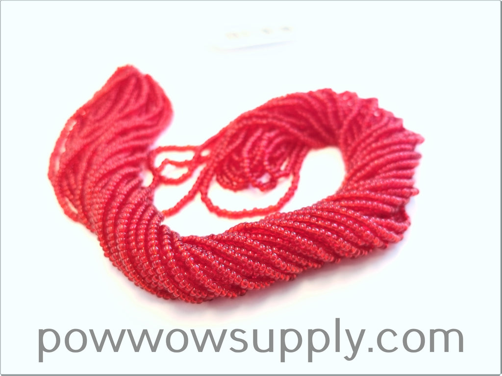 13/0 Seed Beads Transparent Red