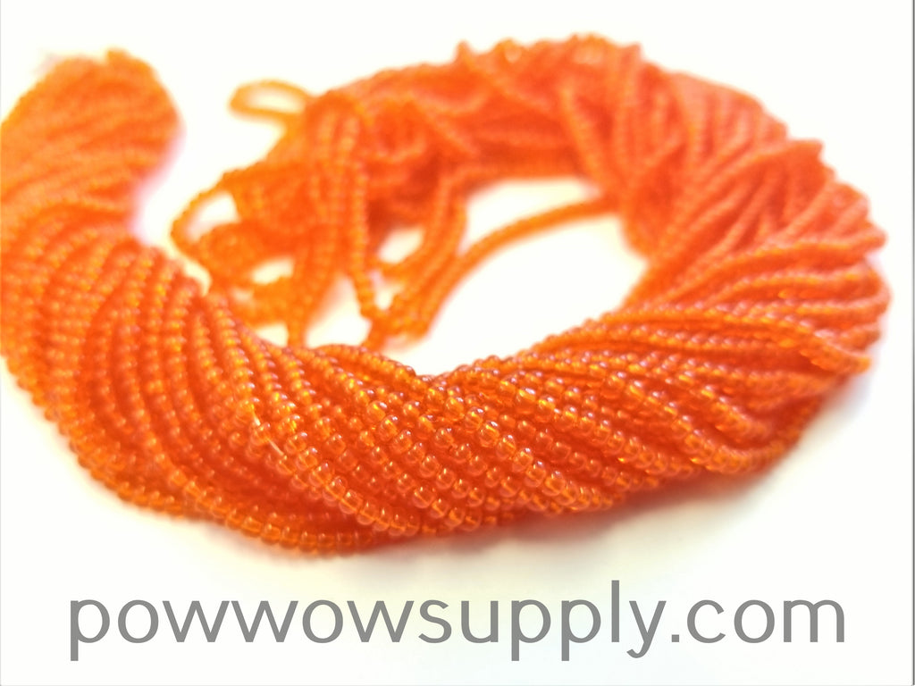 12/0 Seed Beads Transparent Dark Orange