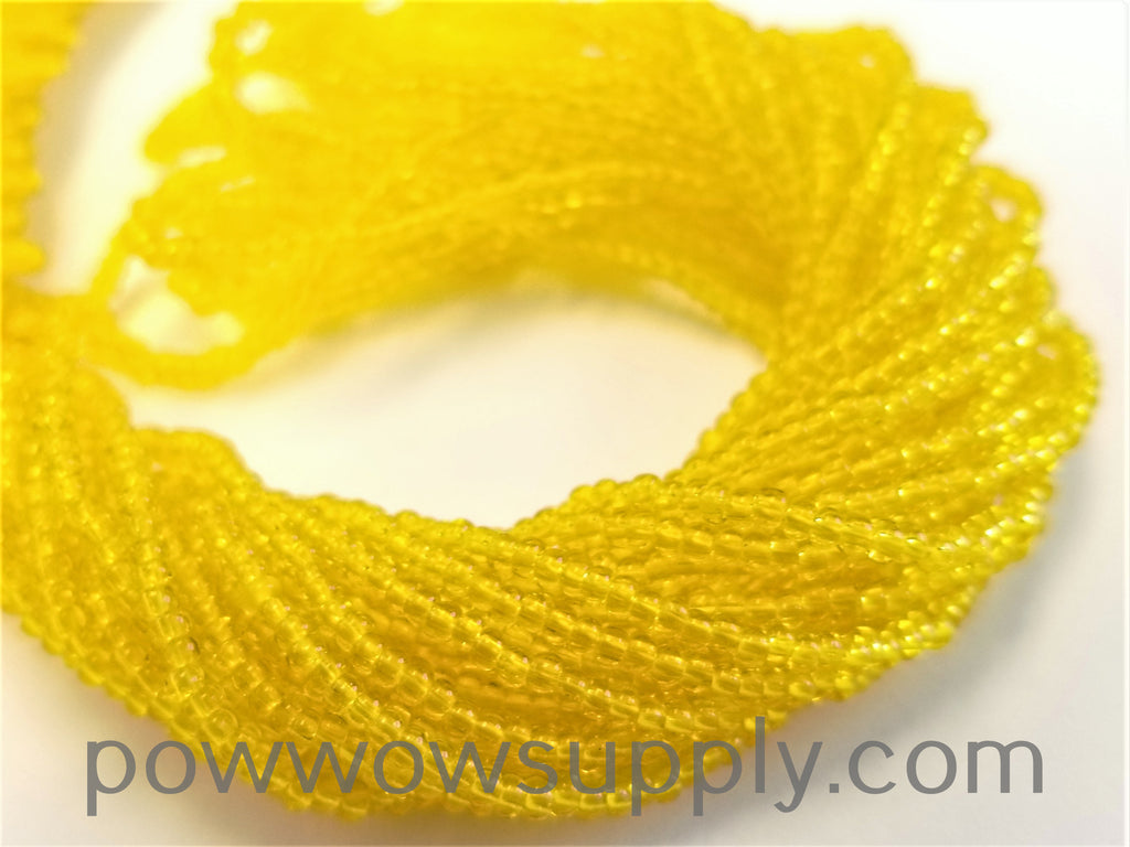 10/0 Seed Beads Transparent Yellow