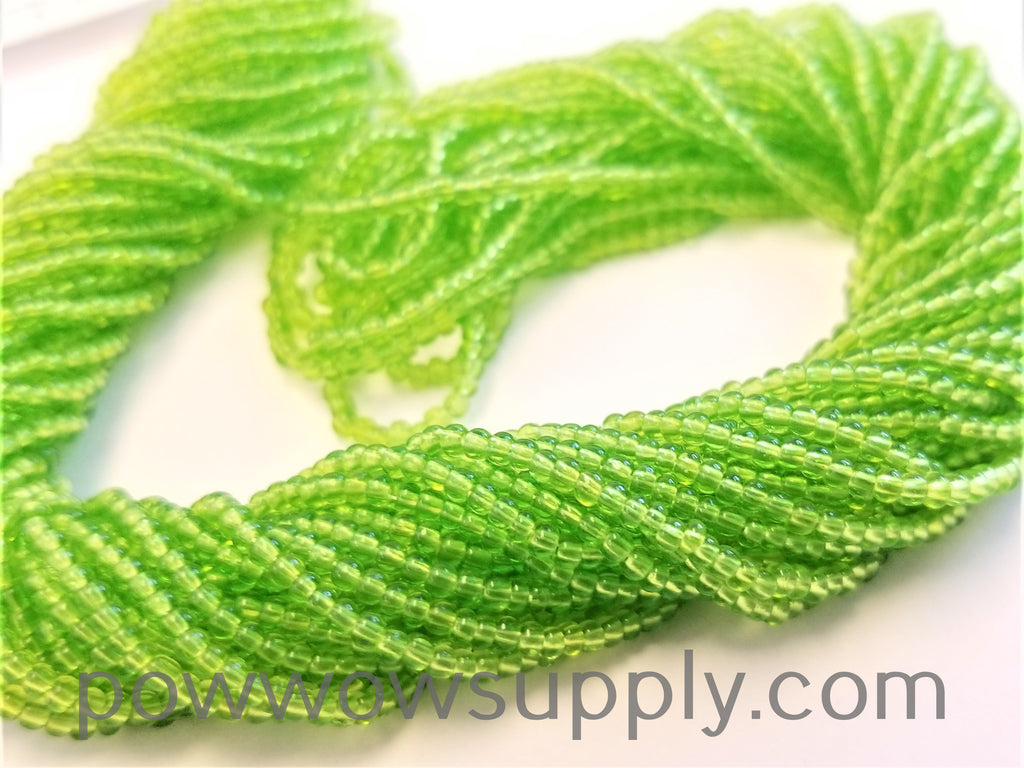 12/0 Seed Beads Transparent Lime