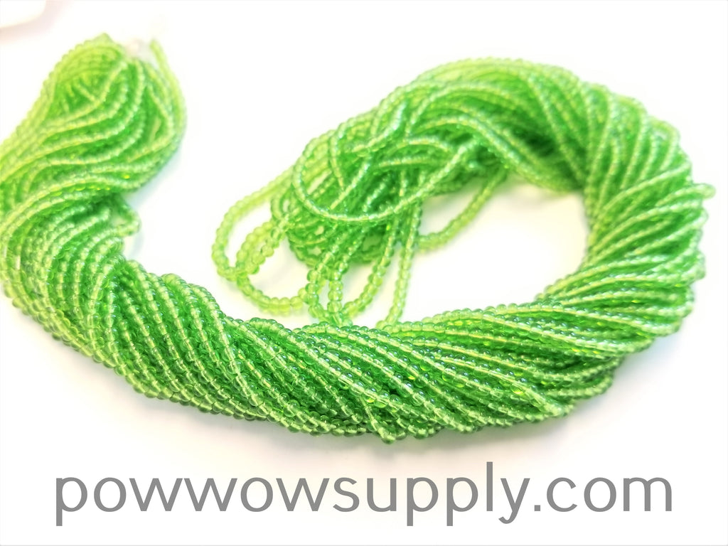 13/0 Seed Beads Transparent Light Green