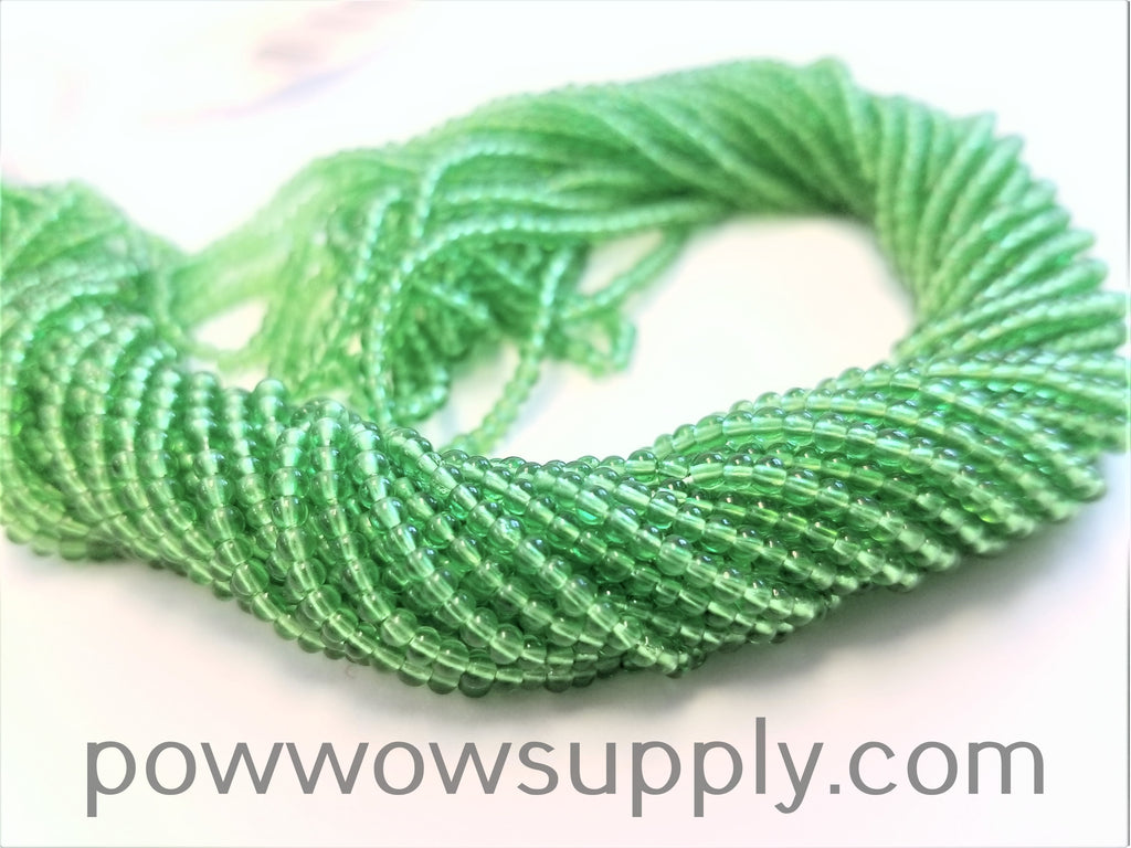 10/0 Seed Beads Transparent Pale Green