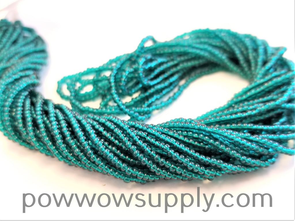 13/0 Seed Beads Transparent Emerald