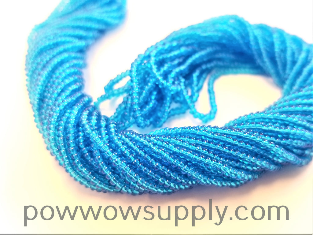 13/0 Seed Beads Transparent Dark Aqua