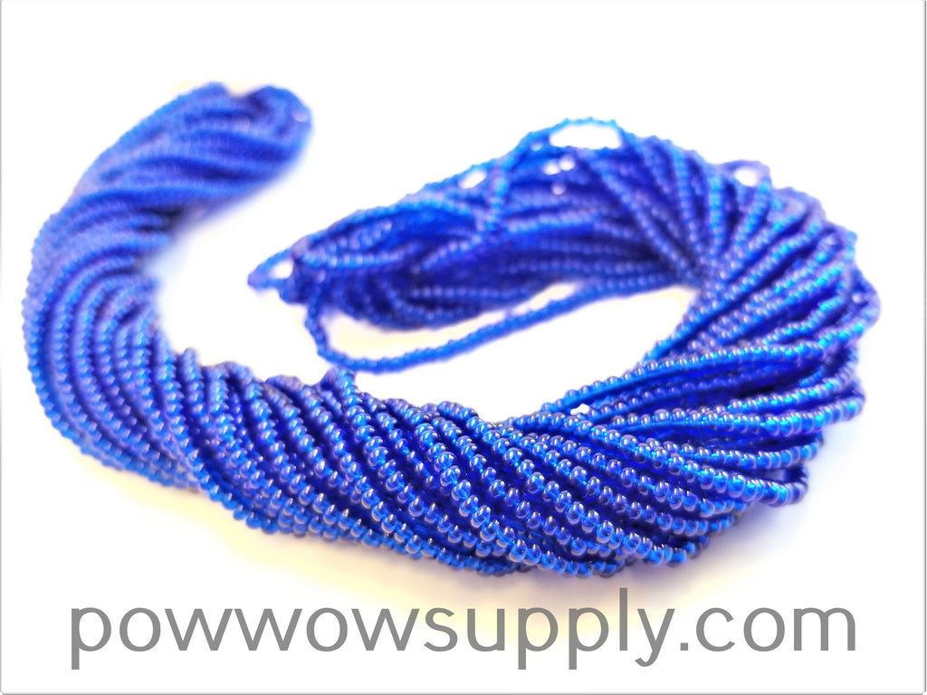 13/0 Seed Beads Transparent Capri Blue