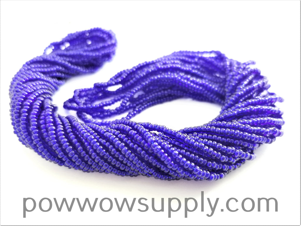 11/0 Seed Bead Transparent Cobalt