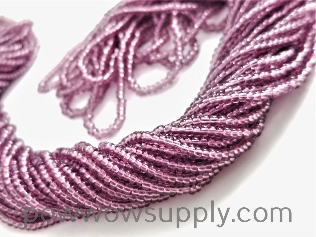 12/0 Seed Beads Transparent Light Amethyst