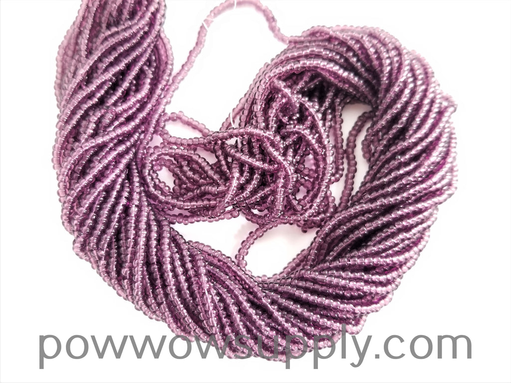 12/0 Seed Beads Transparent Amethyst