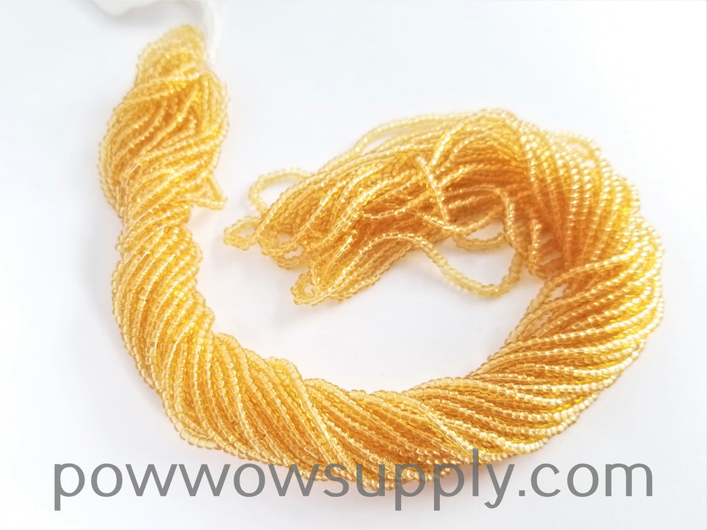 12/0 Seed Beads Transparent Light Topaz