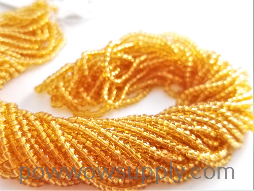 10/0 Seed Beads Transparent Topaz