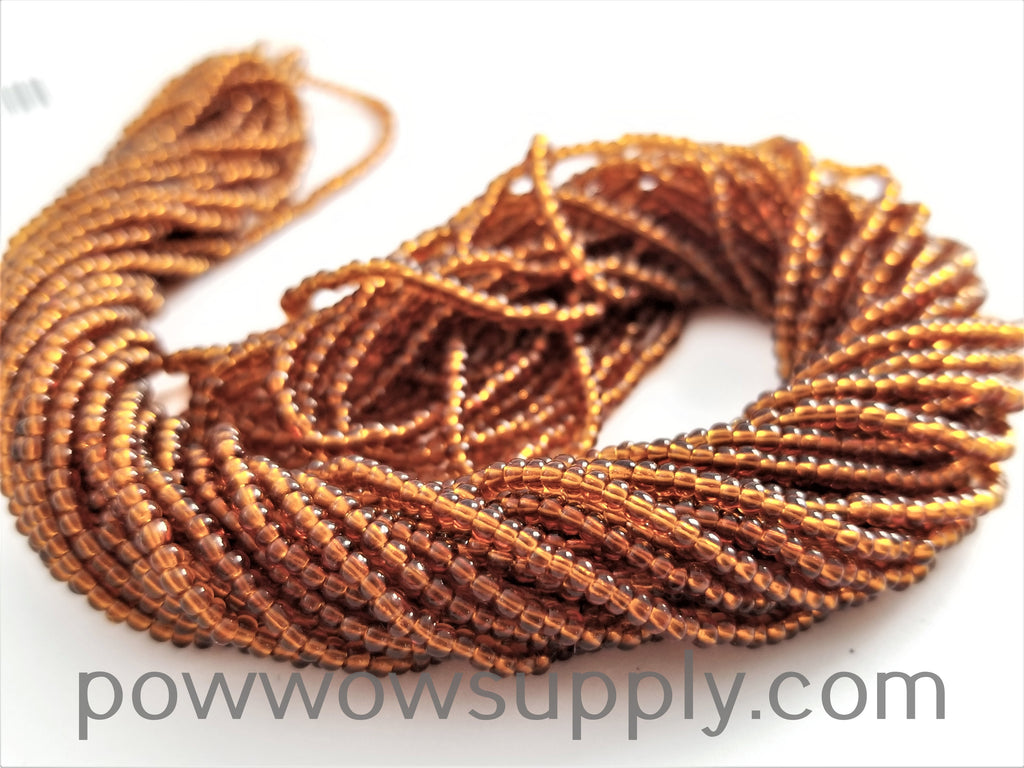 10/0 Seed Beads Transparent Smoke Topaz