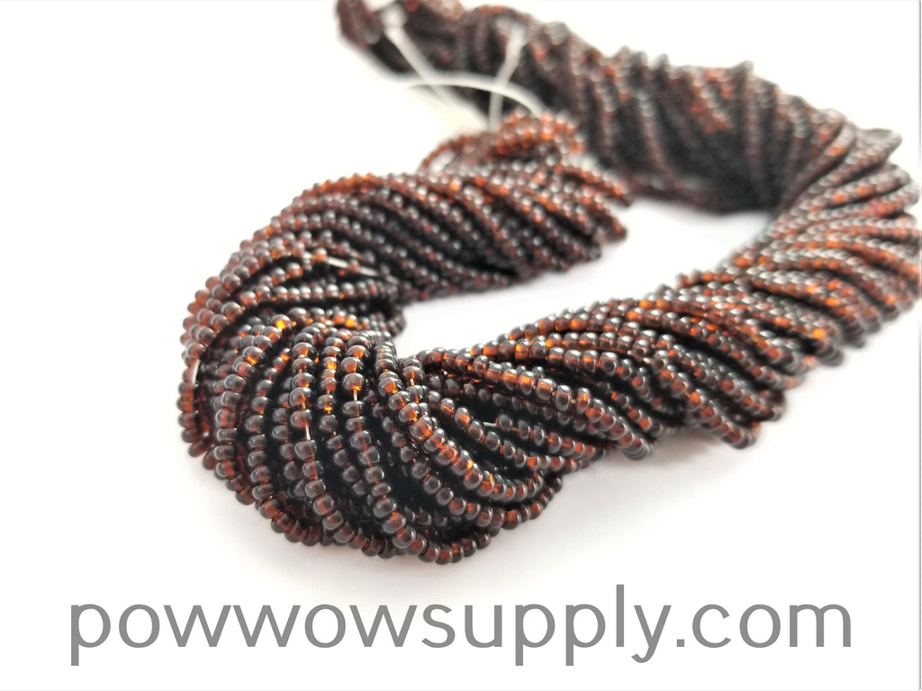 13/0 Seed Beads Transparent Dark Smoke Topaz