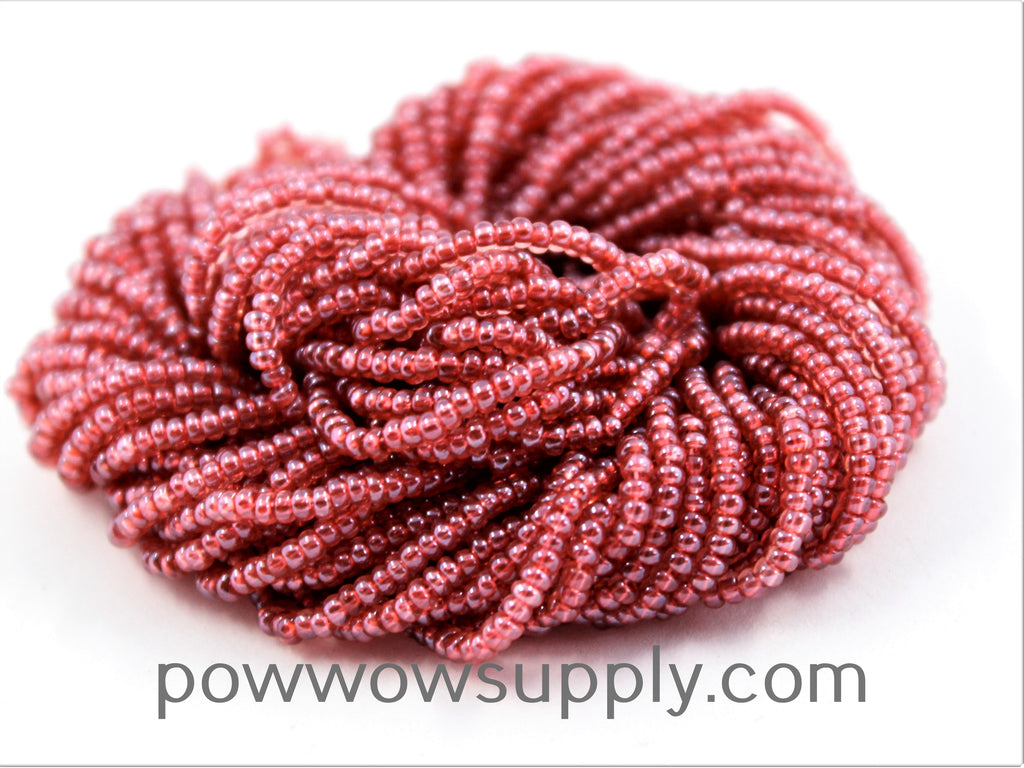 11/0 Seed Beads Transparent Luster Deep Rose