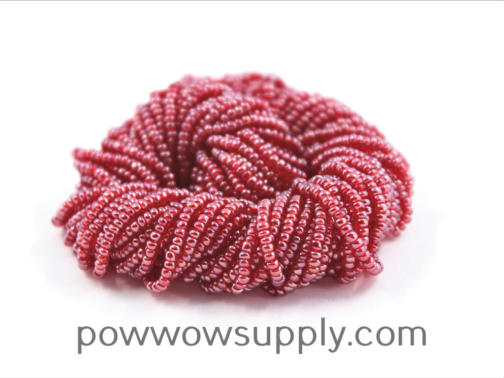 11/0 Seed Beads Transparent Luster Red